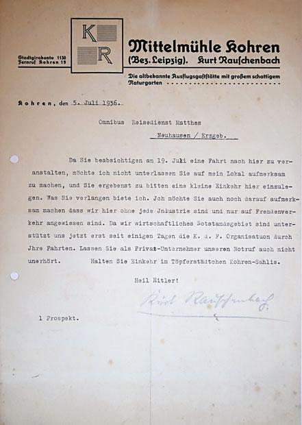 Brief 1936