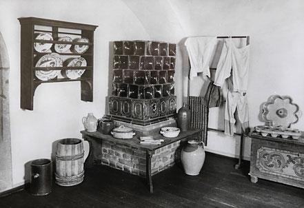 AK DDR Museum Burg Gnandstein Ofenecke