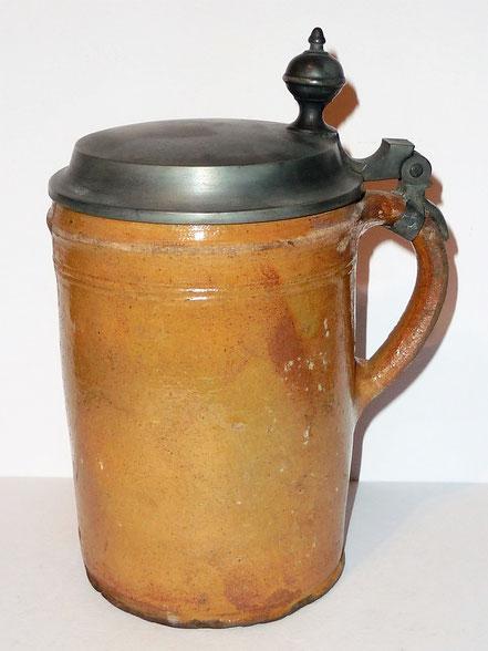 alte Kohrener Keramik Kohren-Sahlis Bleiglasur Walzenkrug