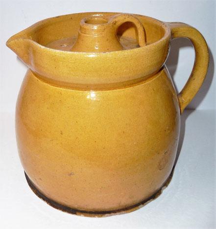 alte Kohrener Keramik Kohren-Sahlis Bleiglasur Milchkrug