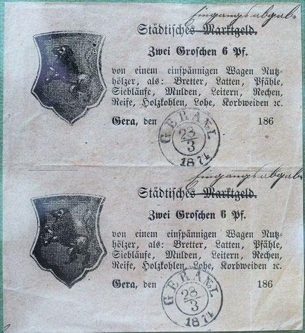 AK Wochenmarkt Dessau 1903