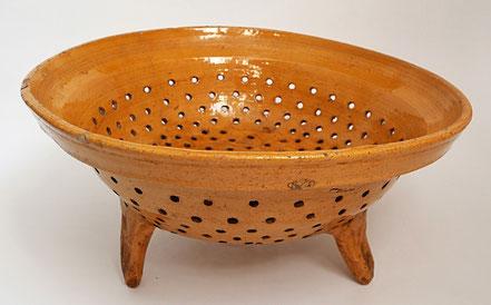 alte Kohrener Keramik Kohren-Sahlis Siebschüssel Sieb Schüssel