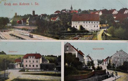 Kohren-Sahlis Bahnhof Eisenbahn Bahnstrecke