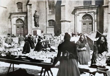 AK Weimar 1900 Topfmarkt