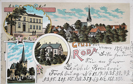 Litho Lithographie Roda Frohburg Kohrener Land