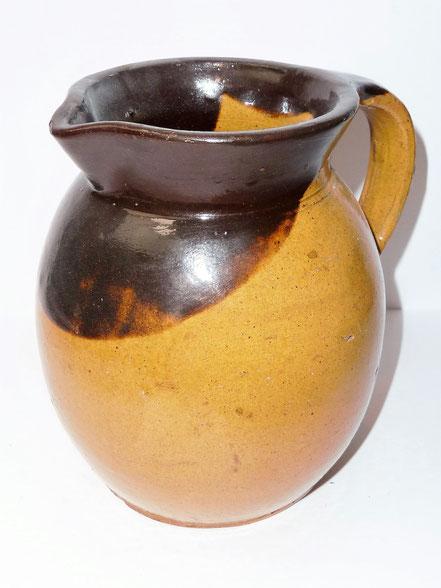 alte Kohrener Keramik Kohren-Sahlis Latzmuster Milchkrug