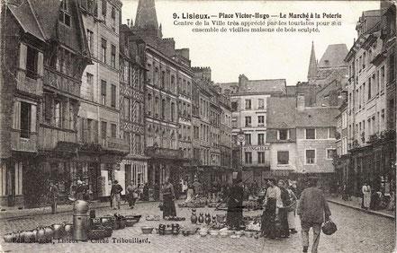 AK Töpfermarkt in Lisieux / Frankreich