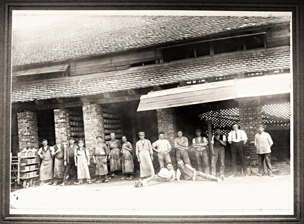 Ziegelei Belegschaft Arbeiter