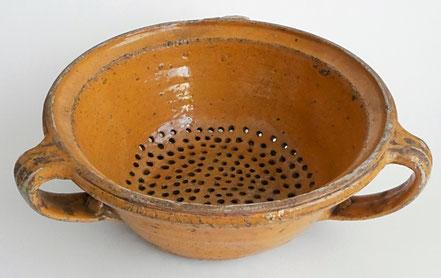 alte Kohrener Keramik Kohren-Sahlis Siebschüssel