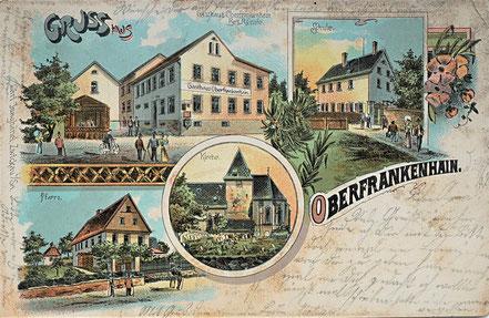 Litho Lithographie Oberfrankenhain Kohrener Land