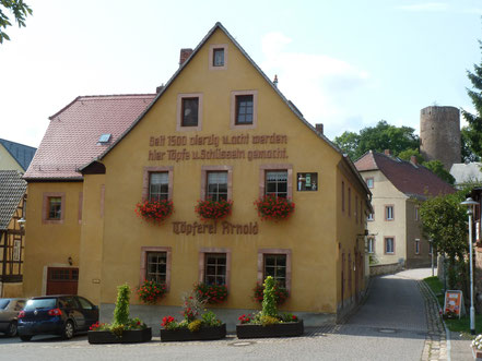 Töpferhaus Arnold im heutigen Kohren-Sahlis