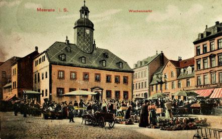 AK Wochenmarkt Meerane 1904