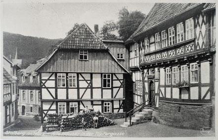 AK Stolberg Harz Töpfergasse alte Häuser