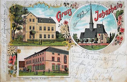 Litho Lithographie Jahnshain Kohrener Land