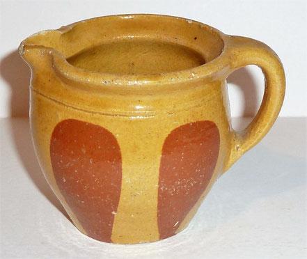 alte Kohrener Keramik Kohren-Sahlis Löffelmuster Krug
