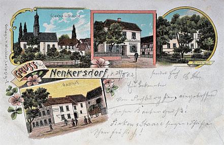 Litho Lithographie Nenkersdorf Kohrener Land