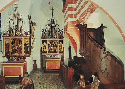 AK DDR Museum Burg Gnandstein Kapelle