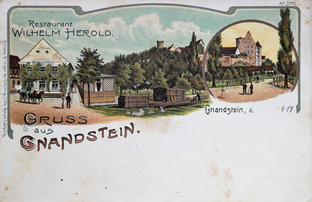 Litho Lithographie Gnandstein Kohrener Land