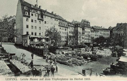 AK Leipzig Töpferplatz 1903 Messe