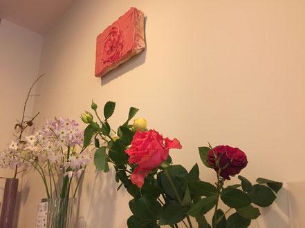 川内理香子の油彩「ROSE」 バラ