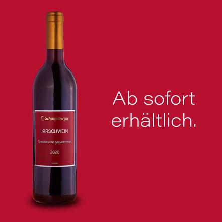 Schwäbische Weinweichsel Jahrgang 2020