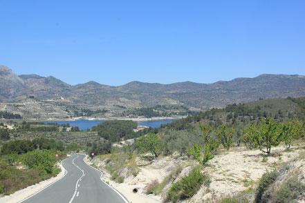 Rennrad Ferien Costa Blanca zum Stausee