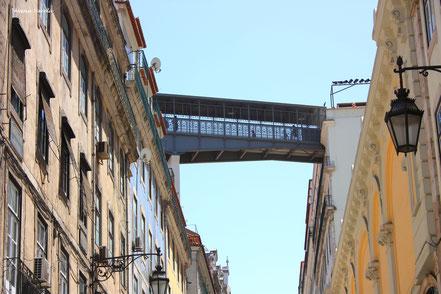 Pasarela del elevador Santa Justa - Lisboa