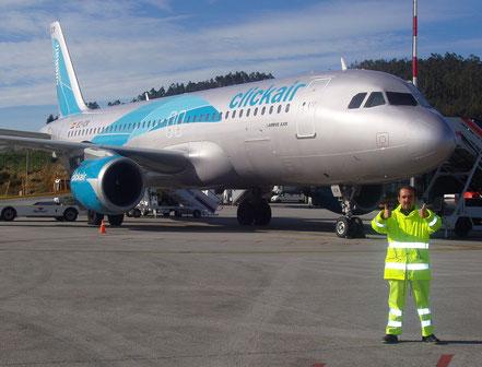 La desaparecida Clickair - Primer vuelo a LCG