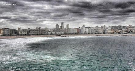 Playa del Orzán - Riazor - La Coruña
