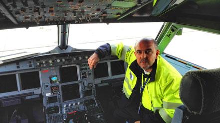Cockpit A321 IBERIA - Gracias a Santi, por compartir grandes momentos.