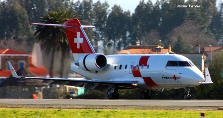 Canadair Challenger 600 Swiss air - Vuelo ambulancia