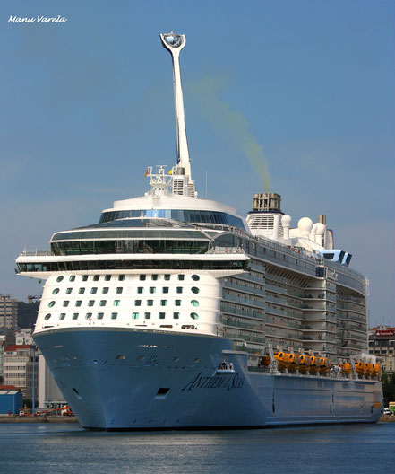 Anthem of the Seas en su escala inaugural en La Coruña