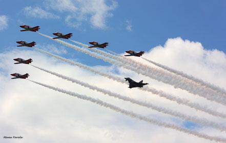 Patrulla Aguila y Eurofighter