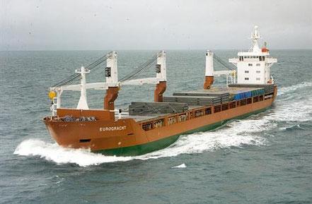 El vaixell de càrrega general Eurogracht, de bandera holandesa, procedent de La Spezia, Italia. 27.01.17.