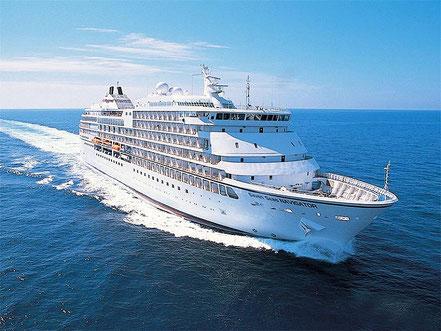 El vaixell de creueristes Seven Seas Navigator, procedent de Marsella i de bandera de les Bahames. 12.05.16., 15.08.16. i 17.10.16