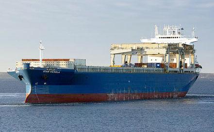 El vaixell de càrrega general Star Herdla, de bandera noruega, procedent d'Alacant i Mobil, USA. 05.07.16.