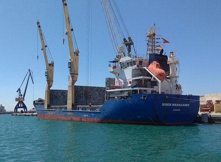 El vaixell de carga general Sider Maracaibo, de bandera N/D, procedent de Alcanar. 07.09.17.