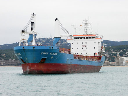 El vaixell de càrrega general Cdry Black, de bandera italiana, procedent d'Eslovènia. 19.11.16.