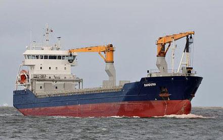 El vaixell de càrrega general Bandura, de bandera holandesa, procedent de Puerto Cabello, Veneçuela i Gibraltar. 11.07.16.