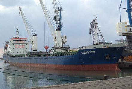 El vaixell de gra Cristin, de bandera italiana, procedent de Palermo. 10.07.16.