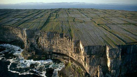 Illes Aran, penya-segats d'Inishmore, Irlanda.