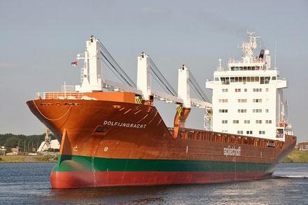 El vaixell de carga general Dolfijngracht, de bandera holandesa, procedent de Wilmington, USA, 26.09.17.