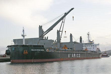 El vaixell de gra a granel Cielo di Virgin Gorda, de bandera de Liberia, procedent de Gibraltar. 13.11.17.