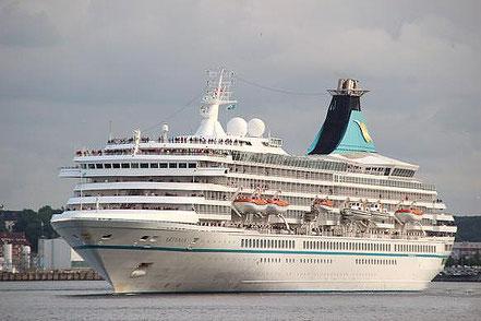 El vaixell de creueristes Artania amb bandera de Bermuda procedent de Gènova, 29.05.16.
