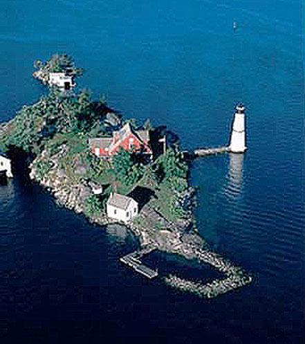 Far a Rock Island, illes Thousand, Nova York, EUA.