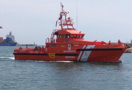 El vaixell de salvament marítim espanyol Guarda Mar Caliope, procedent de Castelló. 18.09.17