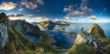 Cales a Reinebringen, illes Lofoten, Cercle Polar, Noruega.