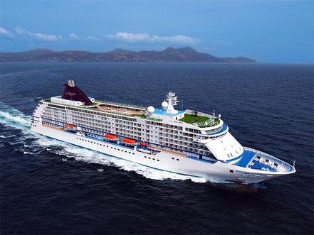 El vaixell de creueristes Seven Seas Voyager amb bandera de Bahames procedent Palma de Mallorca. 21.06.17.