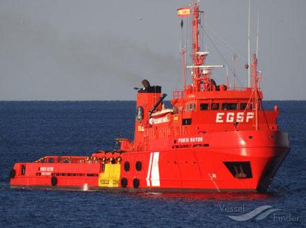 El vaixell de salvament marítim Punta Mayor, procedent de Tarragona. 12.05.16 i 25.10.16.