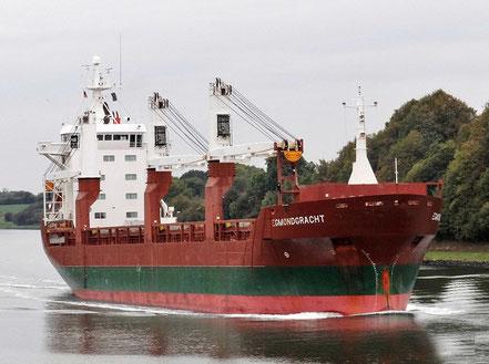El vaixell de càrrega general Egmondgracht, de bandera holandesa, procedent de Colon, Panamà. 13.12.16.